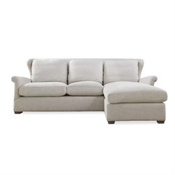 MER-1372 Curated Haven Upholstered Sofa Chaise With Ottoman