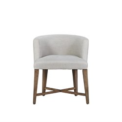Beaumont Lane Slip Covered Barrel Chair in Khaki