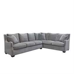 MER-1372 Curated Connor 2 Piece Upholstered in Gray