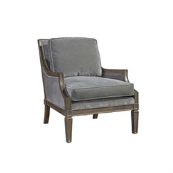 Beaumont Lane Velvet Arm Chair in Gray