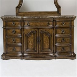 Beaumont Lane 9 Drawer Dresser in Dark Wood