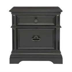 Beaumont Lane 2 Drawer Nightstand in Ebony