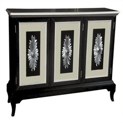 Beaumont Lane 2 Door Sideboard in Black and White Silver
