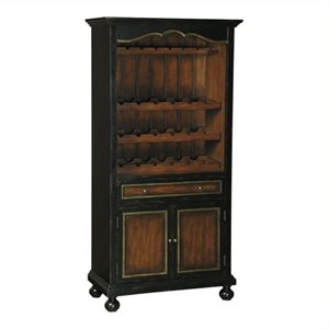 Beaumont Lane Home Bar Cabinet in Distressed Black