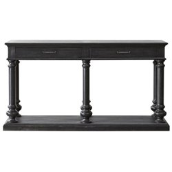 Beaumont Lane Console Table in Dark Wood