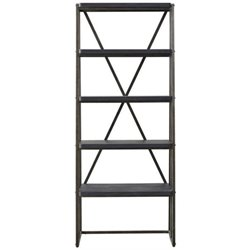 Beaumont Lane 4 Shelf Slanted Bookcase in Black