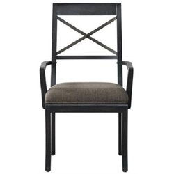 Beaumont Lane Dining Arm Chair in Dark Wood