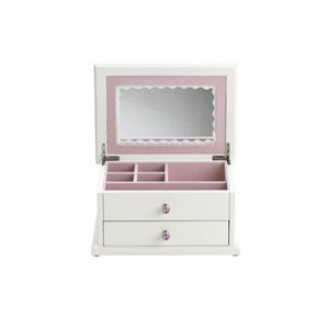 Reed & Barton Small Wonders Secret Princess Jewelry Box in White