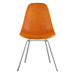 331011 Mid Century Classroom Side Chair in Burnt Orange