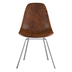 331013 Mid Century Classroom Side Chair in Weathered Whiskey
