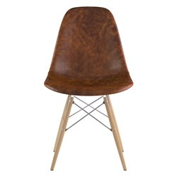 331013 Mid Century Dowel Side Chair in Weathered Whiskey