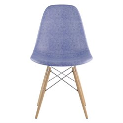 331015 Mid Century Dowel Side Chair in Weathered Blue