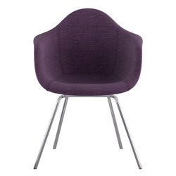 332005 Mid Century Classroom Arm Chair in Plum Purple