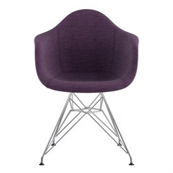 332005 Mid Century Eifel Arm Chair in Plum Purple