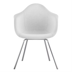 NyeKoncept Mid Century Classroom Arm Chair in Glacier White