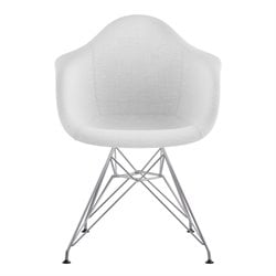 NyeKoncept Mid Century Eifel Arm Chair in Glacier White
