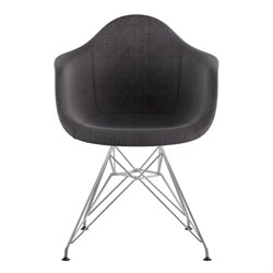NyeKoncept Mid Century Eifel Arm Chair in Charcoal Gray
