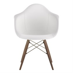 332010 Mid Century Dowel Side Chair in Milanno White