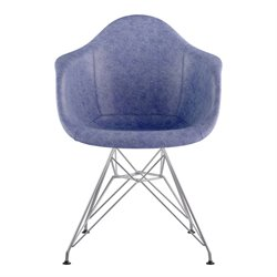 332015 Mid Century Eifel Arm Chair in Weathered Blue