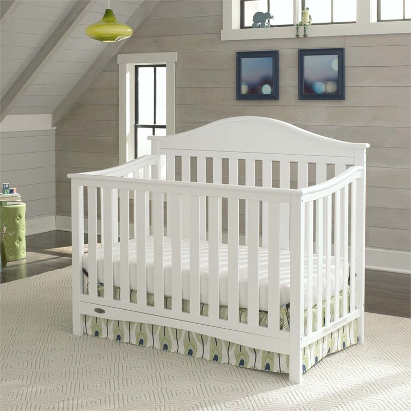 graco harbor lights 4 in 1 convertible crib in white 04540 511