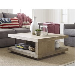 Tommy Hilfiger Esther Coffee Table in Weathered Drift Oak
