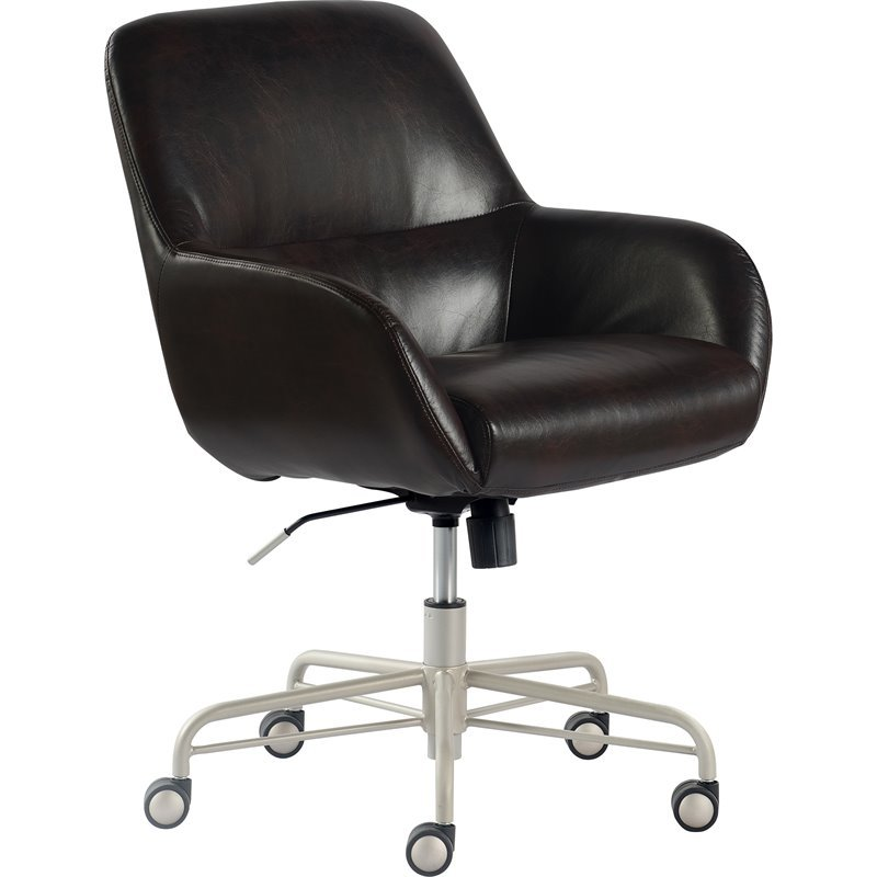 Tommy Hilfiger Forester Leather Office Chair Dark Brown ...