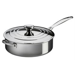 Le Creuset 4.5 qt. Saute Pan with Lid and Helper Handle