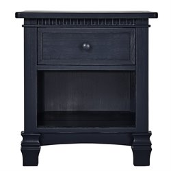 Evolur Cheyenne and Santa Fe Nightstand in Distress Navy