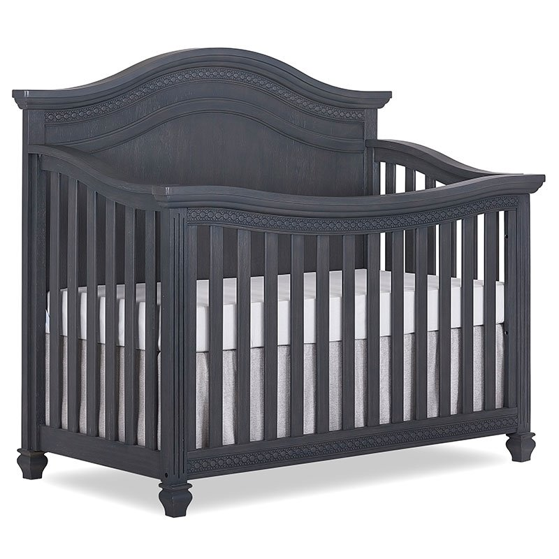 million shipping grey cribs free baby weathered crib convertible dollar foothill in