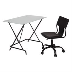 Scranton and Co Wriring Desk with Chair in Black