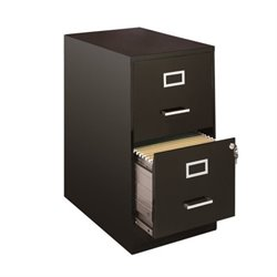 Scranton & Co 2 Drawer File Cabinet in Black