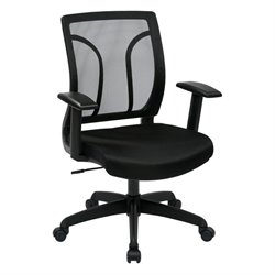 Scranton and Co Screen Back Chair with Mesh Seat in Black