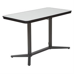 Scranton and Co Height Adjustable Work Table in Titanium