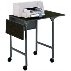 Scranton & Co Printer Stand with Drop Leaves in Black