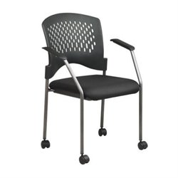 MER-1133 Guest Chair in Titanium and Black