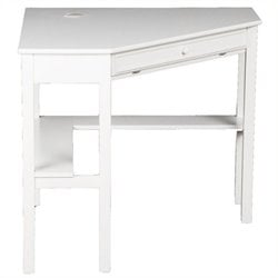 Scranton & Co Corner Computer Desk in White