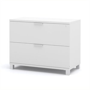 Scranton & Co 2 Drawer Lateral File Cabinet in White