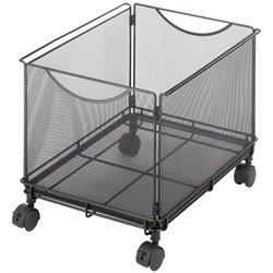 Scranton and Co Mesh Rolling File Cube in Black