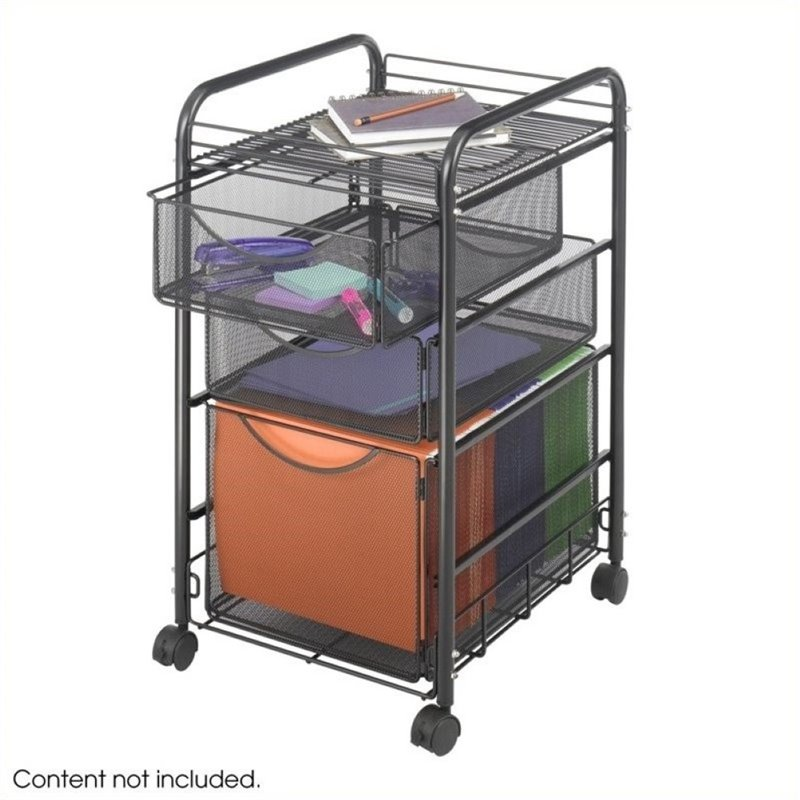 Scranton & Co 3 Drawer Mesh File Cart