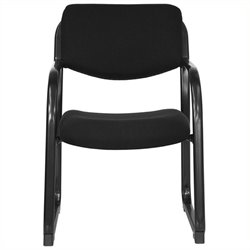 Scranton & Co Executive Side Guest Chair with Sled Base in Black