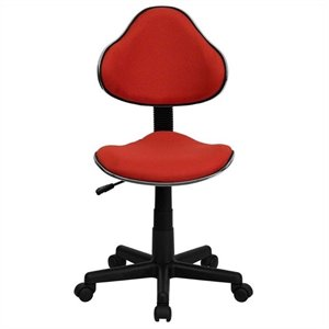 Scranton & Co Modern Ergonomic Task Office Chair in Red