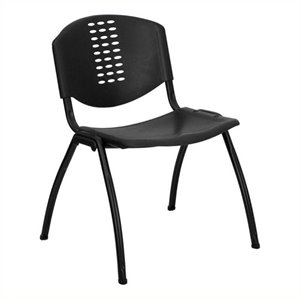 Scranton & Co Polypropylene Stacking Chair in Black