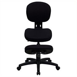 Scranton & Co Mobile Ergonomic Kneeling Office Chair in Black