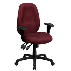 Scranton & Co Multi-Functional Ergonomic Office Chair in Burgundy