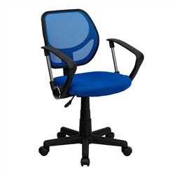 Scranton & Co Mid-Back Mesh Task Office Chair with Arms in Blue