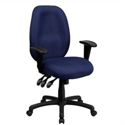 Scranton & Co High Back Multi-Functional Office Chair in Navy