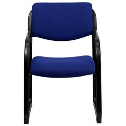 Scranton & Co Executive Side Guest Chair in Navy with Sled Base