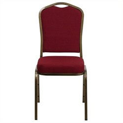 Scranton & Co Stacking Chair with Crown Back in Burgundy