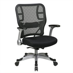 Scranton & Co Mesh Back Office Chair in Black