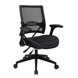 Scranton & Co Grid Managers Office Chair in Black